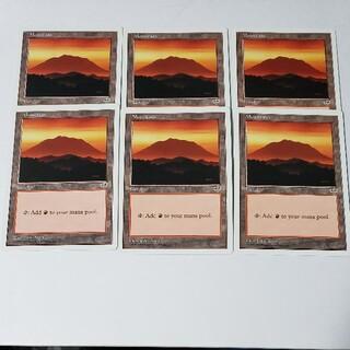 マジックザギャザリング(マジック:ザ・ギャザリング)のアンソロジー 山6枚セット 英語/ATH MTG mountain(シングルカード)