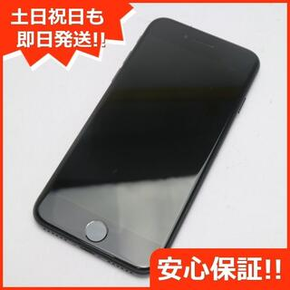 アイフォーン(iPhone)の美品 DoCoMo iPhone7 256GB ジェットブラック(スマートフォン本体)