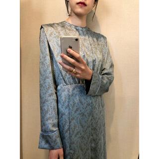CLANE 花柄 水色 ブルー ドレス ワンピース