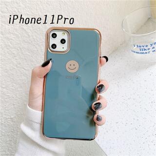 大人気!iPhone11Pro にこちゃん カバー ケース グレー(iPhoneケース)