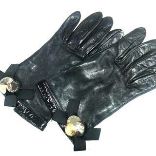コーチ(COACH)のコーチ 手袋 7 1/2 レディース美品  - 黒(手袋)