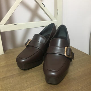 ヘザー(heather)のストームローファー ブラウン(ローファー/革靴)