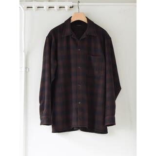 COMOLI - COMOLI 20AW新作 ウールチェックオープンカラーシャツ サイズ3 新品