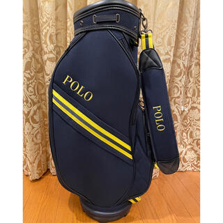 ポロラルフローレン(POLO RALPH LAUREN)の極美品 POLO RALPH LAUREN golf キャディバッグ ネイビー(バッグ)