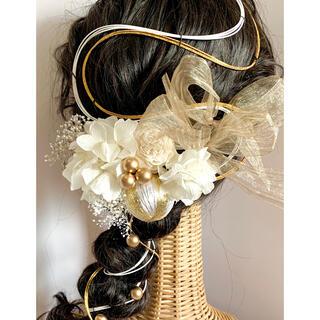 水引xふんわりリボン/ ヘッドドレス / 成人式、髪飾り、前撮り、和装、振袖
