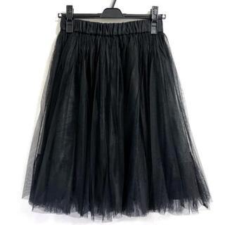 グレースコンチネンタル(GRACE CONTINENTAL)のダイアグラム スカート サイズ36 S 黒(その他)