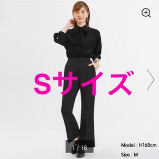 GU - 新品 完売 GU ストレッチフレアパンツQ ブラック 黒 Sサイズ ジーユー