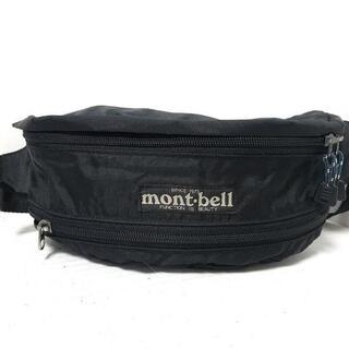 モンベル(mont bell)のモンベル ウエストポーチ 黒 化学繊維(ボディバッグ/ウエストポーチ)