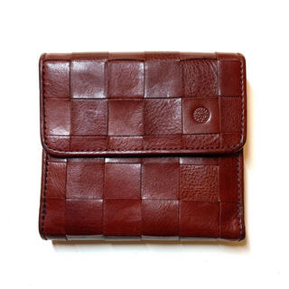 ダコタ(Dakota)のダコタ Dakota ピック 編み込み 折り財布 ワインレッド(財布)