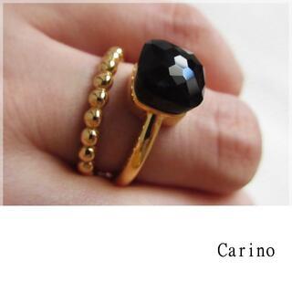 大粒 キャンディリング ブラック 9-17.5号(リング(指輪))