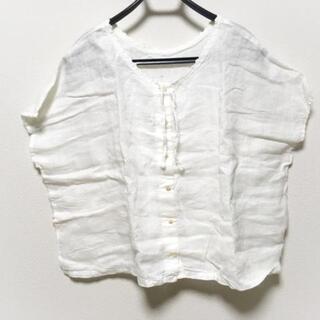 ネストローブ(nest Robe)のネストローブ 半袖シャツブラウス - 白(シャツ/ブラウス(半袖/袖なし))