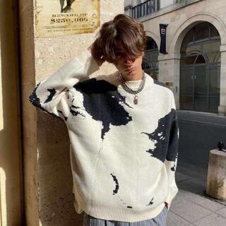 Supreme - 新品 大人気 ニット セーター クリーム ブラック ピクセルアート