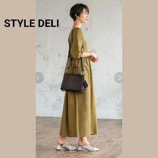 STYLE DELI - [美品]STYLE DELI  型押しスクエアショルダーハンドバッグ
