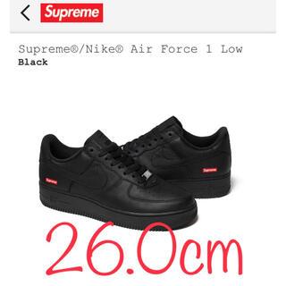 シュプリーム(Supreme)の【黒 26.0cm】Supreme Nike Air Force 1 Low(スニーカー)