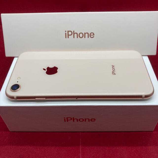 Apple(アップル)のSIMフリー iPhone8 64GB ゴールド スマホ/家電/カメラのスマートフォン/携帯電話(スマートフォン本体)の商品写真