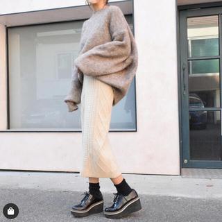 フーズフーチコ(who's who Chico)のyellow 韓国ファッション通販 ニットスカート(ロングスカート)