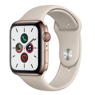アップルウォッチ(Apple Watch)のApple Watch 5 セルラー 44mm ステンレスケース ゴールド(腕時計(デジタル))