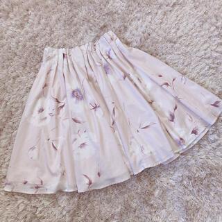 エブリン(evelyn)の今週限定 flower skirt(ひざ丈スカート)