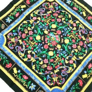 ロエベ(LOEWE)のLOEWE(ロエベ) スカーフ美品  - 花柄(バンダナ/スカーフ)