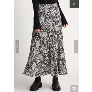 【新品タグ付き】Mila Owen バイアス切替えプリントナロースカート(ロングスカート)