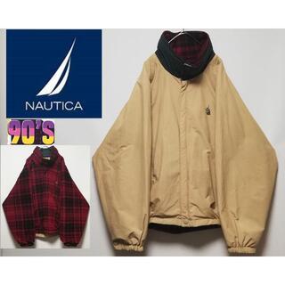 ノーティカ(NAUTICA)の477 90年代 NAUTICA リバーシブル ウォームアップ フリース(ブルゾン)