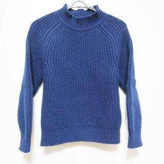 メゾンキツネ(MAISON KITSUNE')のメゾンキツネ 長袖セーター サイズS ブルー(ニット/セーター)