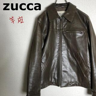 ズッカ(ZUCCa)のZUCCA ズッカ ラムレザー ジャケット 羊皮(ライダースジャケット)