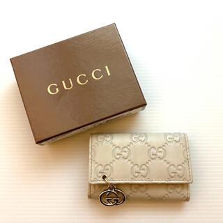 Gucci - グッチ GGインプリメ チャーム 6連キーケース  アイボリー ホワイト 未使用