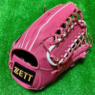 ゼット(ZETT)の新品 ZETT スペシャルオーダー 硬式用 外野手用 グローブ ピンク 台湾製B(グローブ)