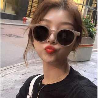 レディース サングラス ベージュ KLEAR UVカット 韓国ファッション