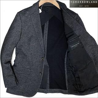 トゥモローランド(TOMORROWLAND)のJ5211 美品 トゥモローランド ダブルフェイスウールテーラードジャケット50(テーラードジャケット)