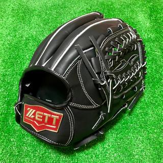 ゼット(ZETT)の新品 高校野球対応 ZETT 硬式用 内野手用 グローブ ブラック 台湾製 B(グローブ)