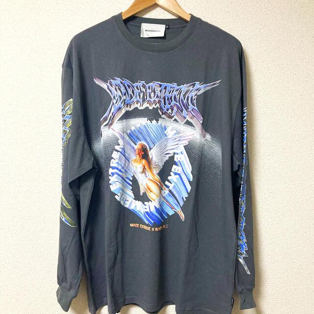 made extreme なえなの着用 韓国 ストリート ロンT メンズのトップス(Tシャツ/カットソー(七分/長袖))の商品写真