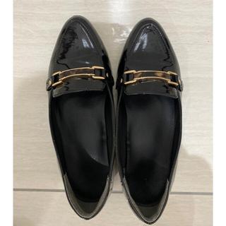 ランダ(RANDA)のローファー 黒 RANDA 晴雨兼用(ローファー/革靴)