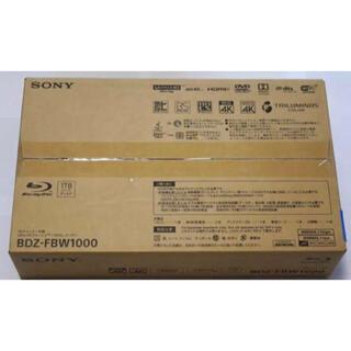 ソニー(SONY)のSONY ブルーレイレコーダー4Kチューナー内蔵 BDZ-FBW1000  新品(ブルーレイレコーダー)