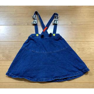 センスオブワンダー(sense of wonder)のベイビーチアー baby cheer デニムジャンパースカート 110cm(スカート)