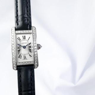 Cartier - 【保証書付】カルティエ タンク アメリカン ミニ シルバー ダイヤ 腕時計