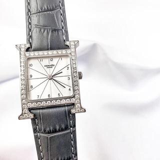 Hermes - 【仕上済】エルメス Hウォッチ シルバー ダイヤ メンズ 腕時計