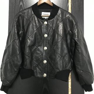 CHANEL - CHANEL レザー ジャケット ブルゾン コート