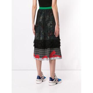 カラー(kolor)の19AW Kolor カラー ハイウエストプリーツスカート(ロングスカート)