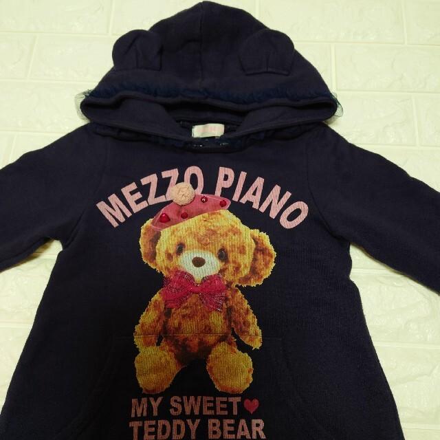mezzo piano(メゾピアノ)のメゾピアノ  くま  ワンピース    120 キッズ/ベビー/マタニティのキッズ服女の子用(90cm~)(ワンピース)の商品写真