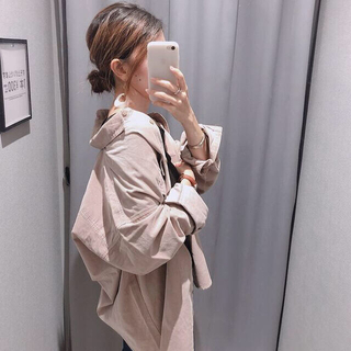 GU - 【処分SALE★27日まで】コーデュロイオーバーサイズシャツ