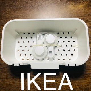 イケア(IKEA)の未使用☆IKEA バスルーム小物収納 フック付き(タオル/バス用品)