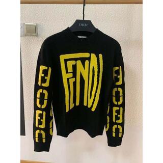 FENDI - FENDI ロゴ オーバーサイズ クルーネックセーター