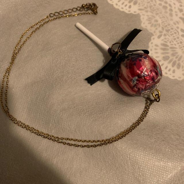 Q-pot.(キューポット)のTommy fellin love withsweetsロリポップネックレス ハンドメイドのアクセサリー(ネックレス)の商品写真