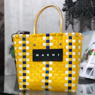 マルニ(Marni)のMARNI フラワーカフェ ピクニック トートバッグ イエロー(トートバッグ)