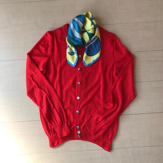 ルカ(LUCA)のルカ ニット カーディガン ウール 赤 きれい色(ニット/セーター)