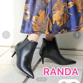ランダ(RANDA)の女子力高め!RANDA ポインテッドトゥピンショートブーツ ミドル サイドゴア(ブーツ)