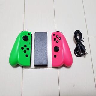 コメ不要★Switch Joy-Con スイッチジョイコン互換 ピンクグリーン(その他)