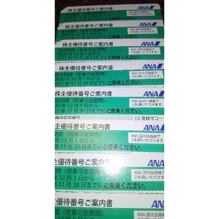 エーエヌエー(ゼンニッポンクウユ)(ANA(全日本空輸))のANA株主優待券8枚(航空券)